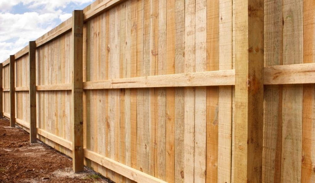 Landscape Timbers Fence