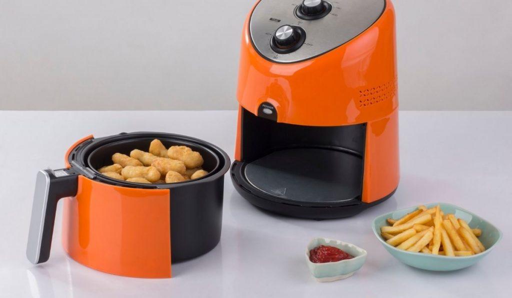 Orange and Black Air Fryer Machine