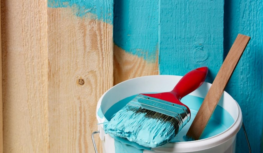 Painting Timber Fence